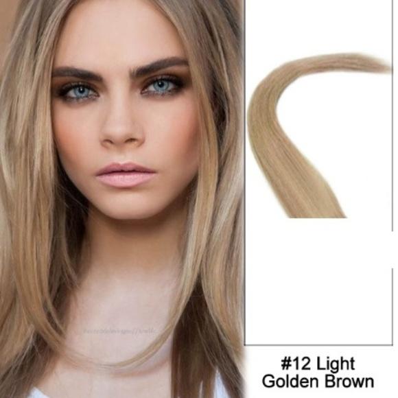 Accessories 26 Straight Hair Extensions 12 Golden Brown Poshmark